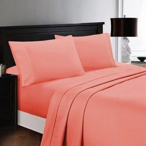 ⭐️SALE⭐️Twin 3pc Coral Bedsheets